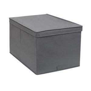 Caixa Organizador TNT Cinza 32,5x34,3x43,3cm Spaceo