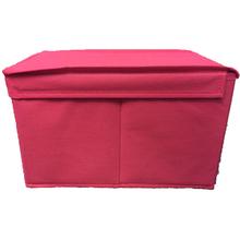 Caixa Organizador TNT Rosa 17,5x17,5x28,5cm Spaceo