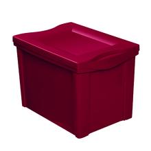 Caixa Organizadora 30,7x30,5x42,5cm 30L Vermelha Radical Color