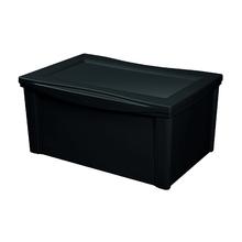 Caixa Organizadora 30,7x63,5x42,5cm 65L Preta Radical Color