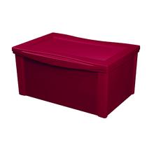 Caixa Organizadora 30,7x63,5x42,5cm 65L Vermelha Radical Color
