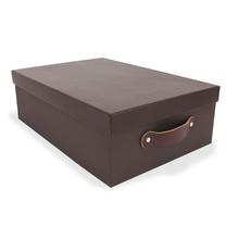 Caixa Organizadora Marrom 12x27x37cm Home Boxgraphia