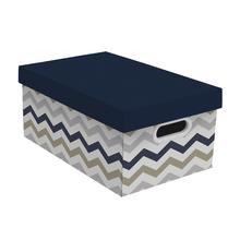Caixa Organizadora Grande 21x29x46,5cm Missoni Azul