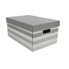 Caixa Organizadora Grande 21x29x46,5cm Stripes Cinza