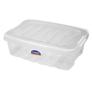 Caixa Organizadora Grande, Alta com Tampa / Alça Termoplástica Branca 40,5 x 29 x 24,5 cm Gran Box