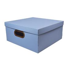Caixa Organizadora Grande Azul 35x35x16cm Comfort Dello
