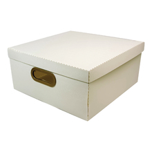 Caixa Organizadora Grande Branca 35x35x16cm Comfort Dello