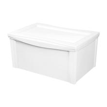 Caixa Organizadora Grande em Plástico Branco 65L Ordene