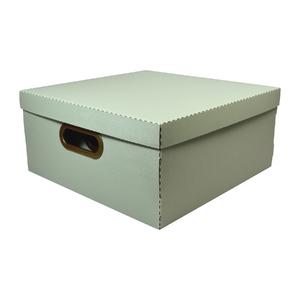 Caixa Organizadora Grande Verde 35x35x16cm Comfort Dello