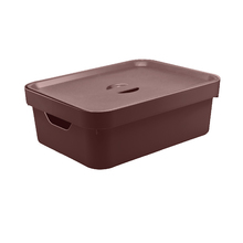 Caixa Organizadora Marrom 13x36,5x27,5 em Plástico Nordi OU