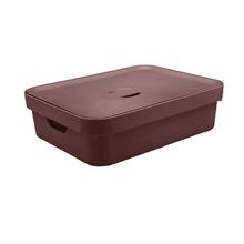 Caixa Organizadora Marrom 13x45x35,5 em Plástico Nordi OU