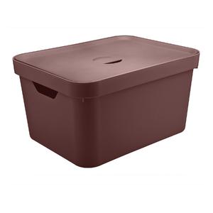 Caixa Organizadora Marrom 24,5x46x36 em Plástico Nordi OU