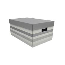 Caixa Organizadora Média 18x25x39cm Stripes Cinza