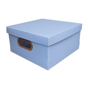Caixa Organizadora Média Azul 30x30x15cm Comfort Dello