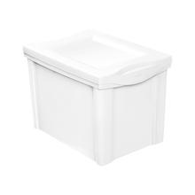 Caixa Organizadora Média em Plástico Branco 30L Ordene
