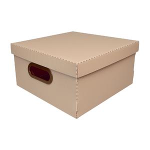 Caixa Organizadora Média Rosa 30x30x15cm Comfort Dello