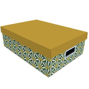 Caixa Organizadora NewArt Amarelo 12x27x39cm Boxgraphia