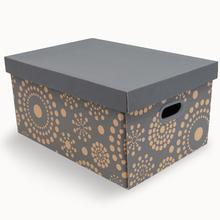 Caixa Organizadora Papelão  Kraft e Cinza 23x32x46 Stok Paper Decor Boxgraphia