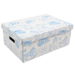 Caixa Organizadora Papelão Azul com Alça 14x25x36cm Baby Boxgraphia