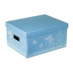 Caixa Organizadora Papelão Azul 20x30,50x39cm Marie Boxgraphia