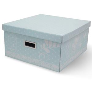 Caixa Organizadora Papelão Azul com Alça 20X40X40cm Marie Boxgraphia