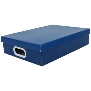 Caixa Organizadora Papelão Azul com Alça 34x25x7 cm Storage  Boxgraphia