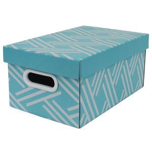Caixa Organizadora Papelão Azul com Alça 35x21x15,5 cm Facilit Boxgraphia