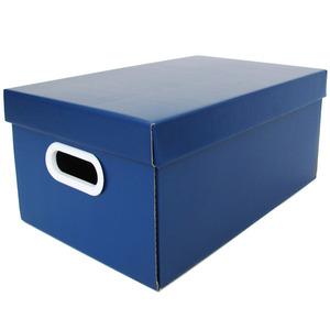 Caixa Organizadora Papelão Azul com Alça 35x21x15,5 cm Office Boxgraphia
