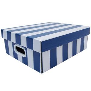 Caixa Organizadora Papelão Azul com Alça 35x28x12 cm Stok Boxgraphia