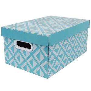 Caixa Organizadora Papelão Azul com Alça 39,5x24,5x17,5 cm Facilit Boxgraphia