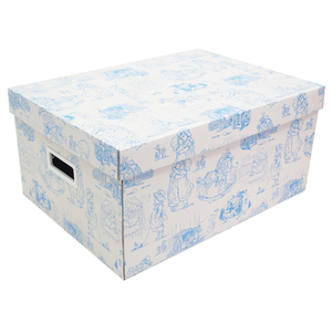 Caixa Organizadora Papelão Azul com Alça 42x30x20cm Baby Boxgraphia