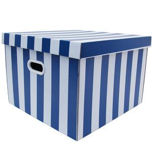 Caixa Organizadora Papelão Azul com Alça 44x42x30 cm Storage  Boxgraphia