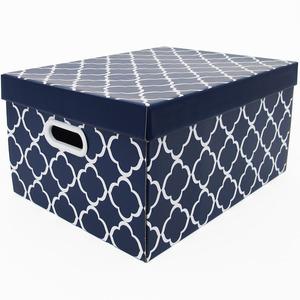 Caixa Organizadora Papelão Azul e Branca Boxgraphia