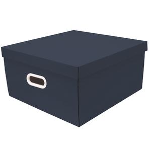 Caixa Organizadora Papelão Azul Petróleo com Alça 20X40X40cm Big Stok Boxgraphia