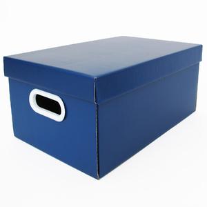 Caixa Organizadora Papelão Azul Petróleo Retangular 22x32x46cm Stok Boxgraphia