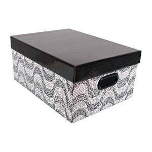 Caixa Organizadora Papelão Branco e Preto 14x25,50x36cm Closet Boxgraphia