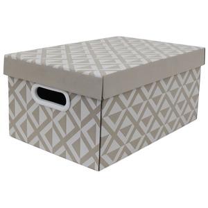 Caixa Organizadora Papelão Fendi com Alça 39,5x24,5x17,5 cm Facilit Boxgraphia