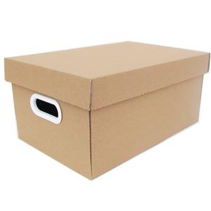 Caixa Organizadora Papelão Kraft com Alça 35x21x15,5 cm Office Boxgraphia