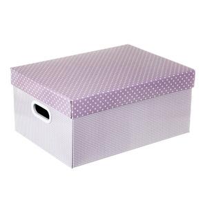 Caixa Organizadora Papelão Lilás 20x42x30,50cm Mix Boxgraphia