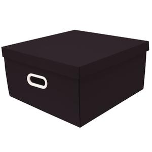 Caixa Organizadora Papelão Preta com Alça 20X40X40cm Big Stok Boxgraphia