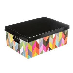 Caixa Organizadora Papelão Preto 14x36x25,50cm Ziggi Boxgraphia