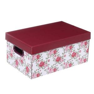 Caixa Organizadora Papelão Preto 18x25x40 cm Floral Boxgraphia