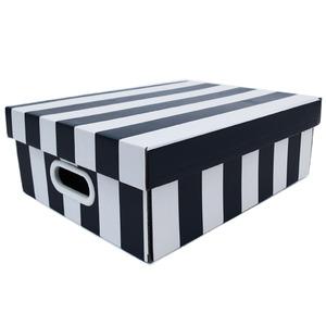 Caixa Organizadora Papelão Preto com Alça 35x28x12 cm Stok Boxgraphia