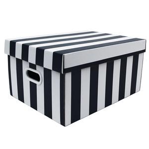 Caixa Organizadora Papelão Preto com Alça 43x32x22 cm Office Boxgraphia