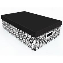 Caixa Organizadora Papelão Preto e Branco 21,7L 14x31x50cm Monochrome Boxgraphia