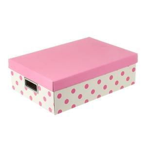 Caixa Organizadora Papelão Rosa 12x27x39cm Closet Kids Boxgraphia