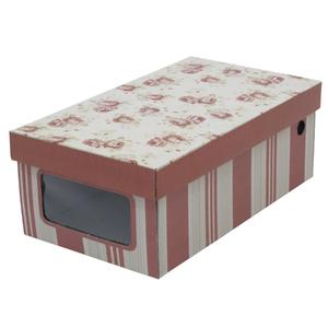 Caixa Organizadora Papelão Rosa com Alça 14X17,5X30cm Boxgraphia