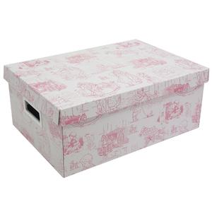 Caixa Organizadora Papelão Rosa com Alça 14x25x36cm Baby Boxgraphia