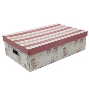 Caixa Organizadora Papelão Rosa com Alça 14X31X50cm Emily Boxgraphia