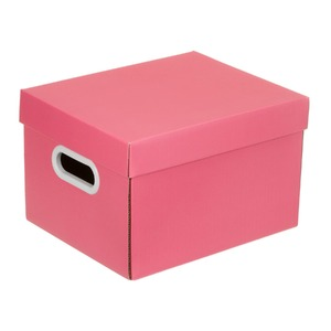 Caixa Organizadora Papelão Rosa 18x23x28cm Mini Boxgraphia